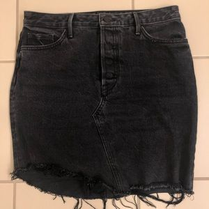 GRLFND denim black skirt